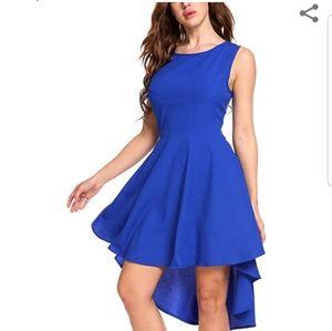 Zeagoo Blue High Low Dress